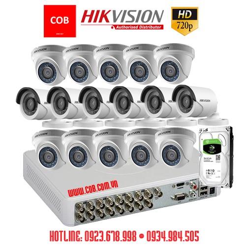BỘ 16 Camera Hikvision Hd