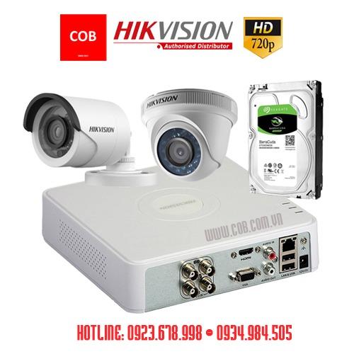 Trọn bộ 2 camera Hikvision HD