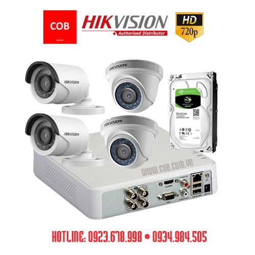 Trọn bộ 4 camera Hikvision HD siêu rẻ, Tron bo 4 camera hd gia sieu re, Trọn bộ camera hikvision chính hãng giá siêu rẻ, camera giá rẻ