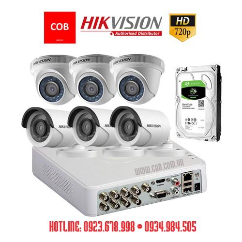 BỘ 6 Camera Hikvision Hd