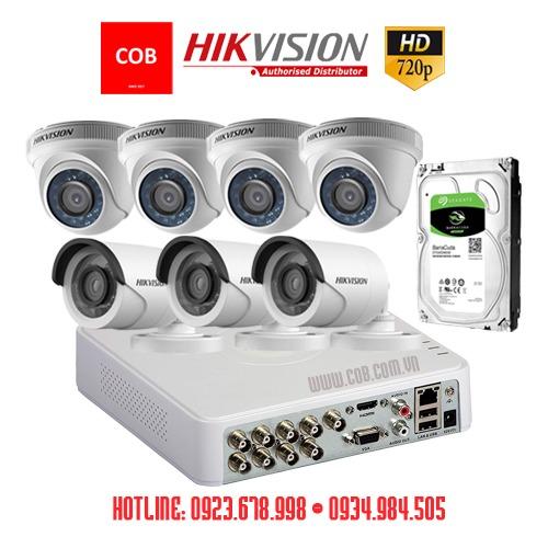 BỘ 7 Camera Hikvision Hd